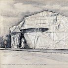 Christo, Kunsthalle Berne - Packed (Project for 50th Anniversary), Collage 1968, 22 x 28