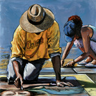 Oscar Piovosi. Ground – I madonnari