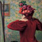 Federico Zandomeneghi, Il giubbetto rosso, 1895 circa, Antica collezione Camillo Giussani | Courtesy of Dart - Chiostro del Bramante e Arthemisia Group