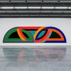 Frank Stella, Damascus Gate, presso l'ingresso del Kunstmuseum Basel | Neubau, Photo by Gina Folly. L'opera minimalista dell'artista statunitense Frank Stella fa parte della collezione del Kunstmuseum di Basilea.