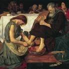 Ford Madox Brown (1821 - 1893), Gesù lava i piedi di Pietro, 1852-1856, Olio su tela, 132.7 x 116.2 cm, Tate, Presented by subscribers 1893 | © Tate, London 2019