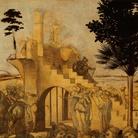 Leonardo da Vinci (1452-1519), Adorazione dei Magi, Particolare dello sfondo, Dopo il restauro