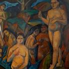 André Derain (Chatou, 1880 - Garches,1954), Les Grandes Baigneuses, 1908, Olio su tela, 225 x 178 cm, Collezione Jonas Netter