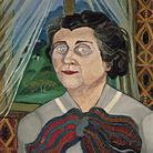 Antonio Ligabue, Ritratto della signora Gnutti, 1957, Olio su faesite, 70 x 50 cm  | Courtesy of Fondazione Archivio Antonio Ligabue di Parma