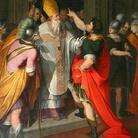 Sant'Ambrogio che ferma Teodosio di Camillo Procaccini