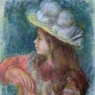 Pierre Auguste Renoir (1841 - 1919), Fanciulla seduta con cappello bianco, 1884, Pastello su carta, 62 x 47 cm, Parigi, Musée Marmottan Monet, Dono Nelly Sergeant-Duhem, 1985 | © Musée Marmottan Monet, Paris / Bridgeman Images