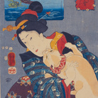 Utagawa Kuniyoshi, L'universo femminile - Teppozu, Serie: Luoghi famosi di Edo (Tōto meisho), 1852, Silografia policroma (nishikie), 25.6 x 37.8 cm ,Masao Takashima Collection