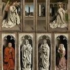 Jan e Hubert van Eyck, L'Adorazione dell'Agnello Mistico, 1432, Dettaglio del pannello centrale con l'Adorazione dell'Agnello, Dopo il restauro, Olio su tavola, Gand, Cattedrale di San Bavone | Courtesy of Saint-Bavo's Cathedral Ghent © Lukasweb.be-Art in Flanders vzw | Photo: KIK-IRPA