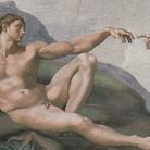 Michelangelo Buonarroti, Adamo, (particolare dalla Volta della Sistina), 1508-1512. Affresco © Musei Vaticani