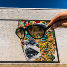 Sandra Chevrier, ALWAYS SUNNY, East Los Angeles, This mural is made by Sandra Chevrier on the side of the Johns Liquor Store, The mural still exists | Photo © Vonjako
