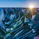 StarFighterA, REBIRTH, Santa Monica, Los Angeles, Portrait painted by StarFighterA on the side of Ed's Liquor Store in Santa Monica, This mural still exists | Photo © Vonjako