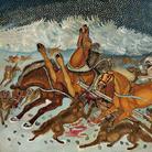 Antonio Ligabue, Traversata della Siberia, 1959, Olio su tela, 100 x 150 cm | Courtesy of Fondazione Archivio Antonio Ligabue di Parma