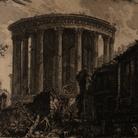Giambattista Piranesi, Tempio della Sibilla a Tivoli, Acquaforte, 51.9 x 68.6 cm | Courtesy Musei Civici di Bassano del Grappa