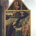 """Lorenzo d'Alessandro, Natività. Tempera su tavola, cm 135x80. Pinacoteca Civica """"Tacchi Venturi"""" San Severino Marche (MC)"""