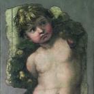 Raffaello Sanzio (Attribuito), Putto reggifestone, 1511-1512, Affresco staccato, 41.5 x 110 cm