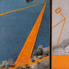 Christo e Jeanne-Claude, The Floating Piers (Project for Iseo Lake, Italy) 2014, Collage in 2 parti, 30.5 x 77.5 cm 66.6 x 77.5 cm