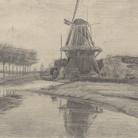 Vincent van Gogh, Mulino a vento su un canale, Agosto - Settembre1881, Otterlo Museum