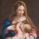 Attribuito a Ludovico Trasi (da Carlo Maratta), La Madonna allatta il Bambino, XVII secolo, Olio su tela, 72 x 96 cm, Ascoli Piceno, Pinacoteca Civica