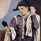 Pablo Picasso. Arlecchino con specchio (Arlequin au miroir)