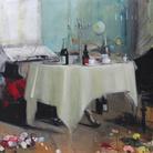 Massimiliano Alioto, Asfissia, 2016, Olio su tela 190 x 150 cm | © Massimiliano Alioto
