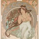 Alfons Mucha (1860-1939), Les Arts: Musique, Danse, Poesie, Peinture, 1898, Quattro litografie a colori su carta, 38 x 60 cm