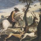 Giovanni Francesco Barbieri, detto il Guercino (Cento, 1591 - Bologna, 1666), Caccia al cervo e al cinghiale, 1615, Affresco, Cento, Pinacoteca Civica
