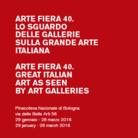 Arte Fiera 40. Lo sguardo delle gallerie sulla grande arte italiana