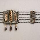 Josef Ladislav Němec (1871-1943), Girocollo (Collier de chien), Dopo il 1900, Praga, Argento parzialmente dorato, granati boemi, almandini, Lungh. 34 cm