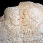 Rilievo incompiuto con gli apostoli Pietro e Paolo, Aquileia, Metà IV secolo d.C., Museo Paleocristiano di Aquileia