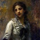 Daniele Ranzoni, Ritratto di giovinetta, olio su tela, 95 x 60 cm