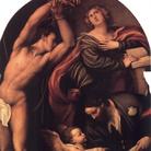 I Ss. Caterina, Sebastiano e Rocco cui un angelo mostra il cammino