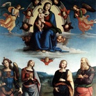 Madonna col Bambino in gloria e i Santi Giovanni Evangelista, Apollonia, Caterina d'Alessandria e Michele Arcangelo