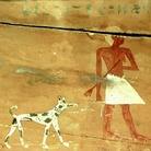Raffigurazione di un cane nella cosiddetta Tomba di Khui, Necropoli reale di Dara, Medio Egitto, Primo periodo intermedio (?)
