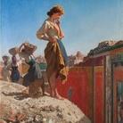 Filippo Palizzi, Scavi di Pompei, olio su tela 118 x 85 cm