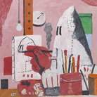 Philip Guston, The Studio, 1969, Olio su tela, 106.7 x 121.9 cm, Collezione privata | © The Estate of Philip Guston | Foto: Genevieve Hanson