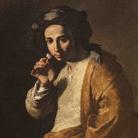 Collezione De Vito, Maestro dell'annuncio ai pastori (Juan Dò?), Giovane che odora una rosa, 1640-1645 circa, Olio su tela, 79 x 104 cm