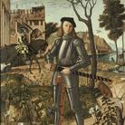 Vittore Carpaccio, Giovane Cavaliere in un paesaggio, 1510, Olio su tela, 218.5 x 152.5 cm, Madrid, Thyssen-Bornemisza Museum