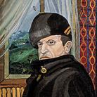 Antonio Ligabue, Ritratto di Basilio Gnutti, 1957, Olio su faesite, 70 x 50 cm  | Courtesy of Fondazione Archivio Antonio Ligabue di Parma