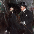 Giovanni Boldini, La passeggiata al Bois de Boulogne, 1909 circa, Museo Giovanni Boldini, Ferrara