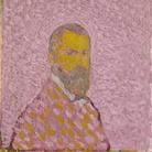 Cuno Amiet, Autoritratto in rosa (Selbstbildnis in Rosa), 1907, Olio su tela, 55 x 61 cm, Collezione privata