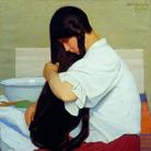 Oscar Ghiglia, La camicia bianca o Donna che si pettina, 1909, Olio su tela, Viareggio, Istituto Matteucci | Courtesy of Studio Esseci 2016
