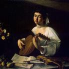 Caravaggio, Suonatore di liuto, olio su tela, 100 x 126.5 cm, San Pietroburgo, Ermitage