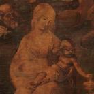 Leonardo da Vinci (1452-1519), Adorazione dei Magi, Particolare della Madonna col Bambino, Prima del restauro