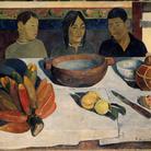 Paul Gauguin, Le repas (Il pasto detto anche Le banane),1891.Olio su carta incollata su tela, cm 73 x 92