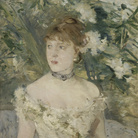Berthe Morisot, Giovane donna in tenuta da ballo, 1879, Olio su tela, 54 x 71.5 cm, Parigi, Musée d'Orsay | © René-Gabriel Ojéda / RMN-Réunion des Musées Nationaux/ distr. Alinari