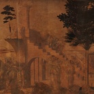 Leonardo da Vinci (1452-1519), Adorazione dei Magi, Particolare dello sfondo, Prima del restauro