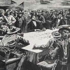 Giocatori di Faro e minatori, 1849-1850, California Journal, Riproduzione a stampa del 1891, Collezione Gherardo Ortalli | Courtesy of Fondazione Benetton Studi Ricerche Treviso