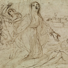Giovanni Francesco Barbieri, detto il Guercino (Cento, 1591 - Bologna, 1666), Santa Genoveffa fra gli appestati, 1630, Inchiostro su carta, Cento, Pinacoteca Civica