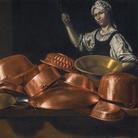 Evaristo Baschenis, Massaia con rami, olio su tela, 94x134, Collezione privata
