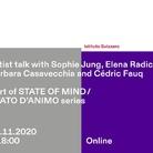 Artist talk with Sophie Jung, Elena Radice, Barbara Casavecchia & Cédric Fauq